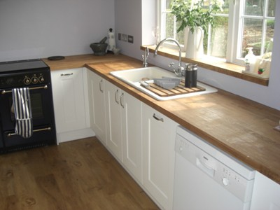 Painted Oak Kitchen & Solid Oak Worktops