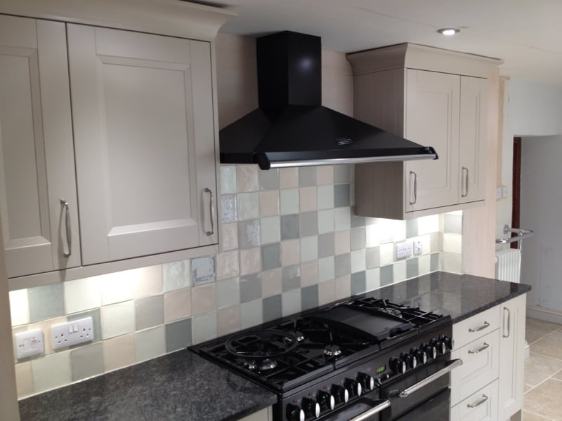Aga range cooker and extractor