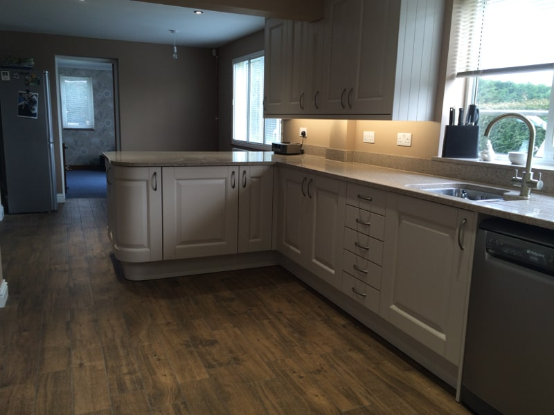New Kitchen for a cottage in Bainton Near Bicester Oxfordshire.
