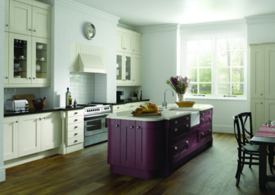 Painted Ivory and Aubergine Timber Shaker_web