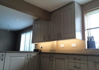 Solid Ash Timber doors painted taupe