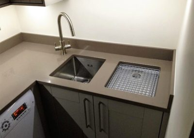 Utility sink set in Silestone Unsui worktop