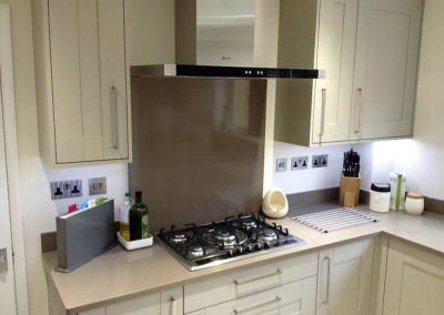 Painted Oak Kitchen & Silestone Unsui Worktops