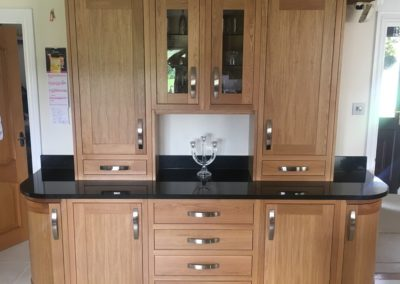 Edmonton In-Frame White Oak units & display cabinet