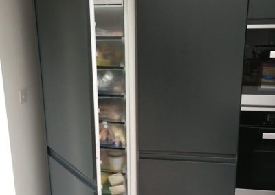 Freezer in bank of units