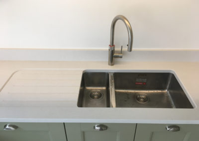 Franke Kubus sink stainless steel with Quooker Flex