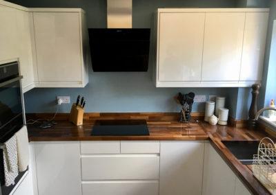 JPull white gloss with european walnut worktips