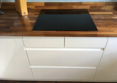 Neff induction hob with pan drawers below