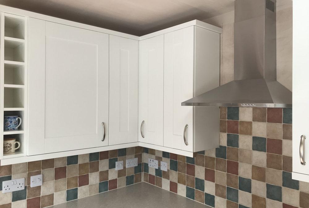 White Shaker Kitchen & Jura Marble Duropal Worktops