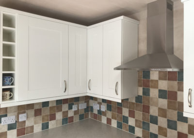 White Shaker Kitchen & Jura Marble Duropal Worktops