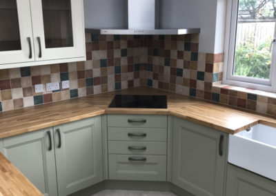 Two Tone Painted Ash Shaker Kitchen & European Oak Worktops