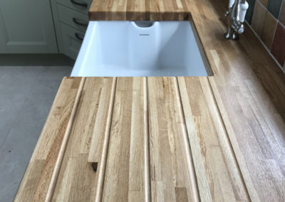 European Oak Worktop with Draining Grooves