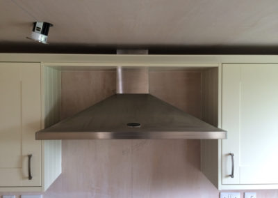 Extractor and spots being fitted