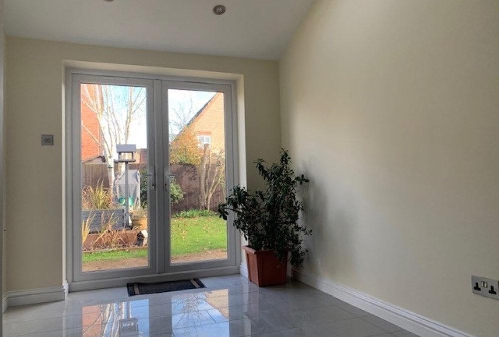 Bright ground floor living area extension