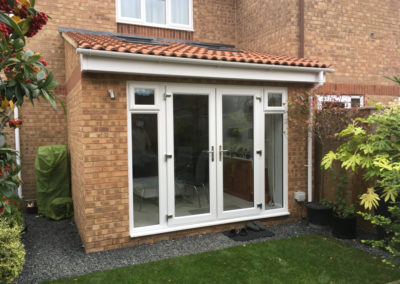 Extension finish from the garden