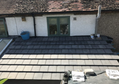 Tiles on the new roof