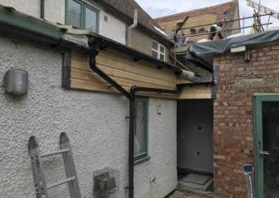Boxed in the raised roofline