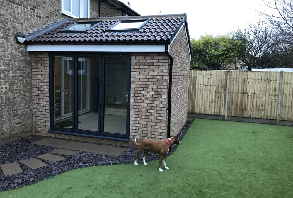 Dining area extension & garden landscaping